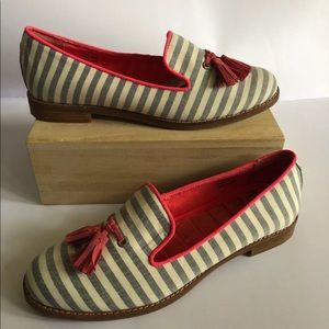 Sperry top sider size 9 striped tassel slip on